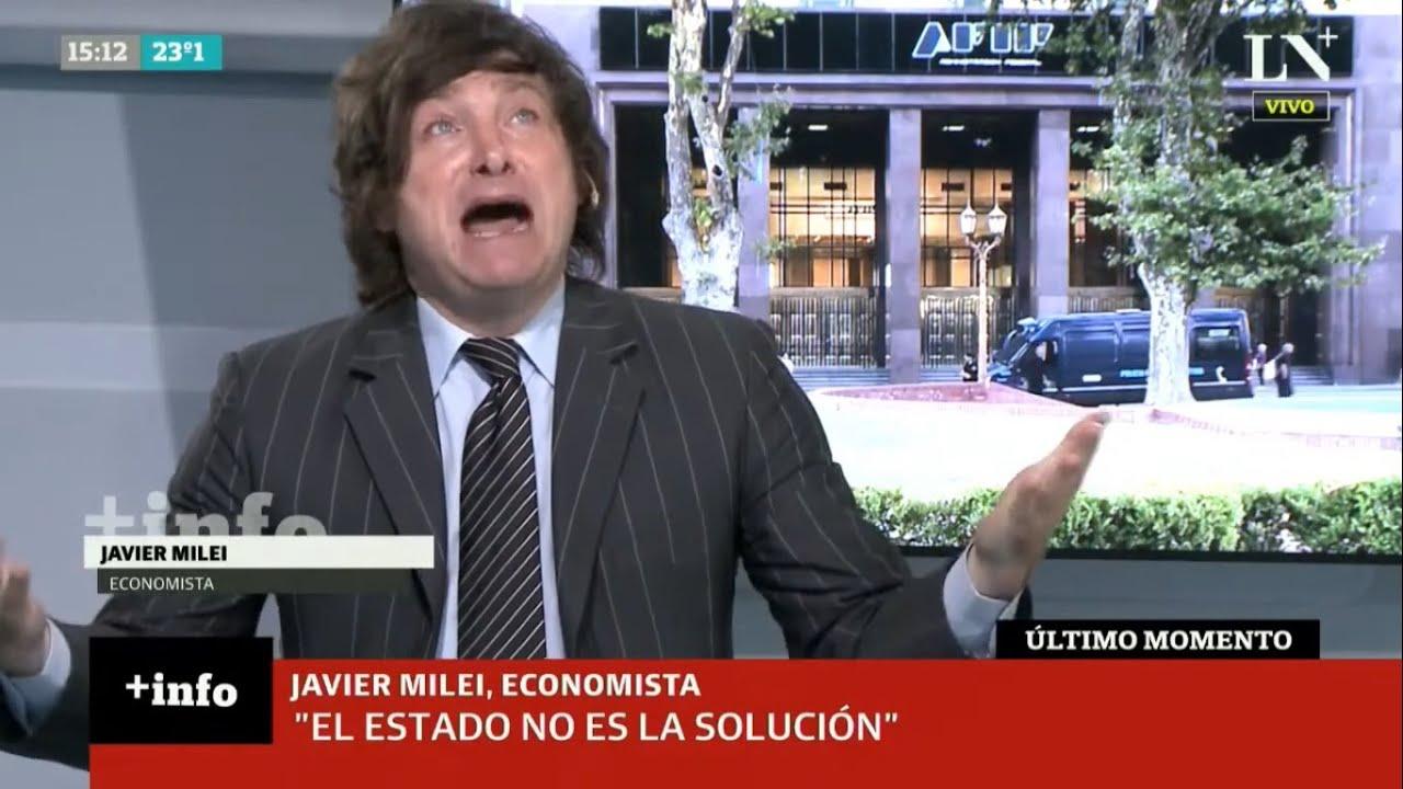 """""""Cuando sea diputado voy a escrachar a estos políticos chorros"""" Impecable Javier Milei en LN+,9/2/21"""