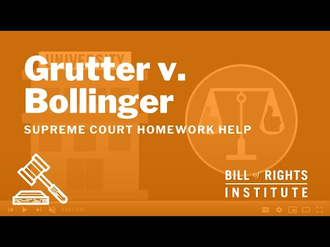 grutter vs bollinger Case opinion for us supreme court grutter v bollinger read the court's full decision on findlaw.