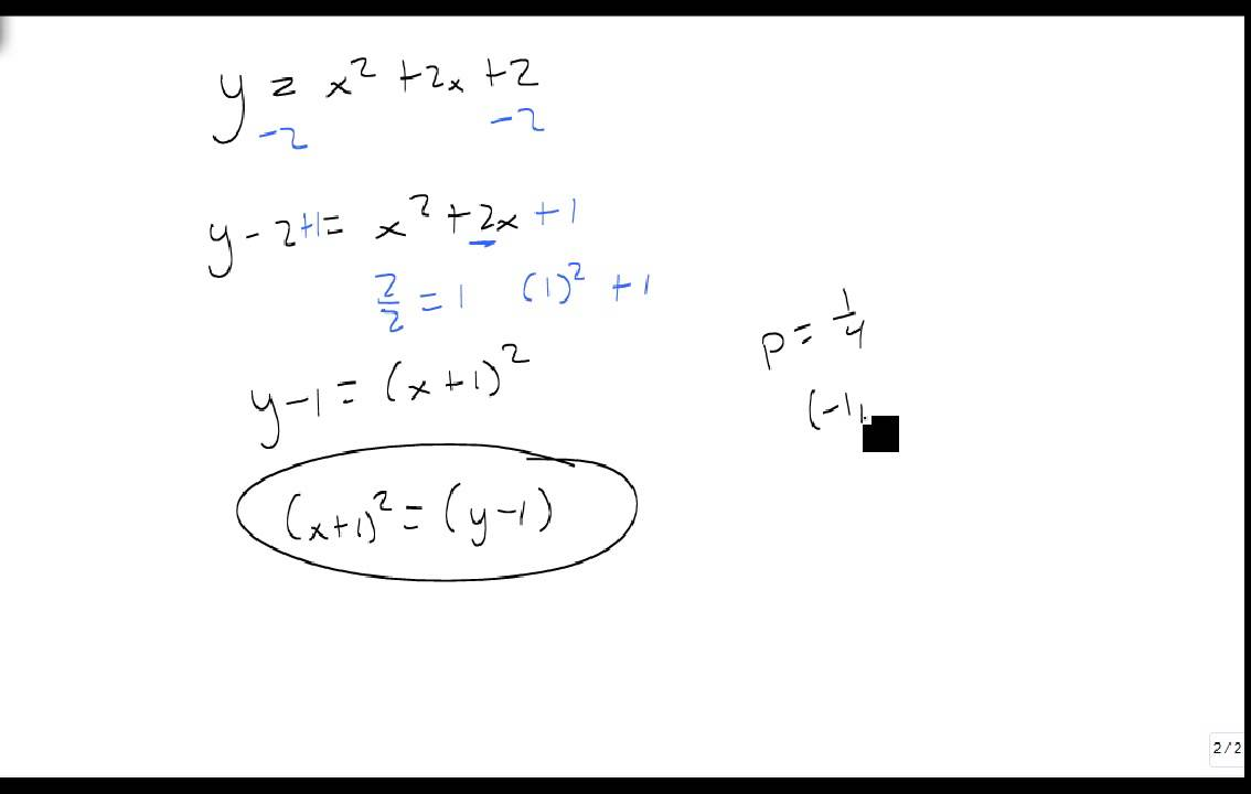Convert from general to standard form of a parabola - YouTube