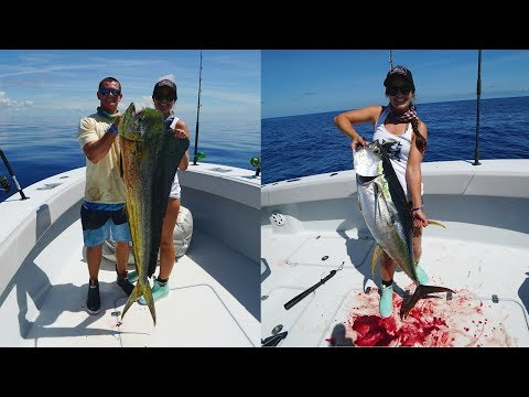 INSANE Dolphin And Tuna Fishing In Bahamas!! My FIRST Yellowfin Tuna!