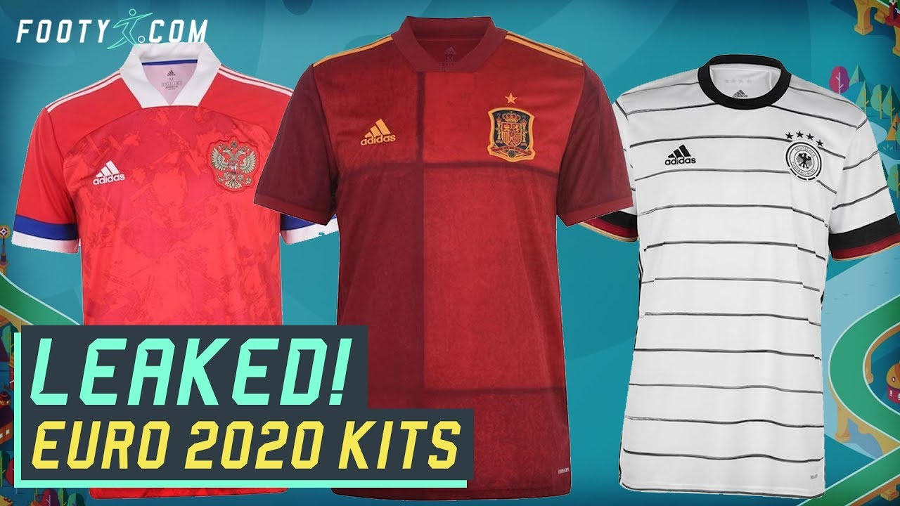 LEAKED ADIDAS EURO 2020 KITS! Germany, Spain & Russia home shirts