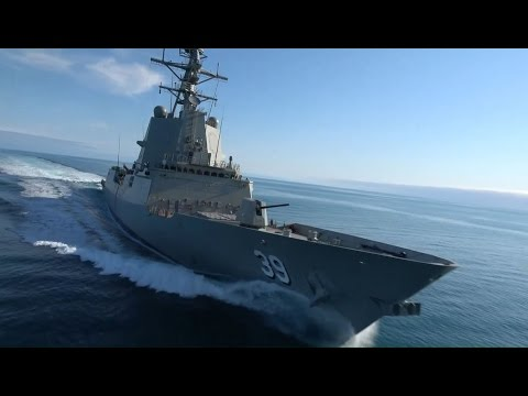 Royal Australian Navy Air Warfare Destroyer Hobart Sea Trials