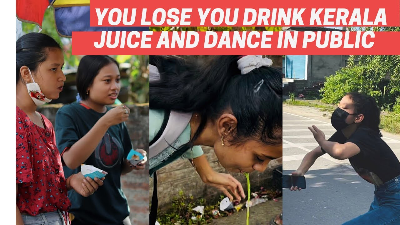 Pani Puri Challange | You Lose You Drink Kerala Juice and Dance in Public