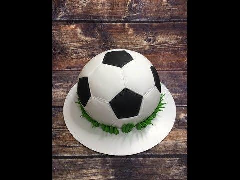 торт футбольный мячик ( оформление )