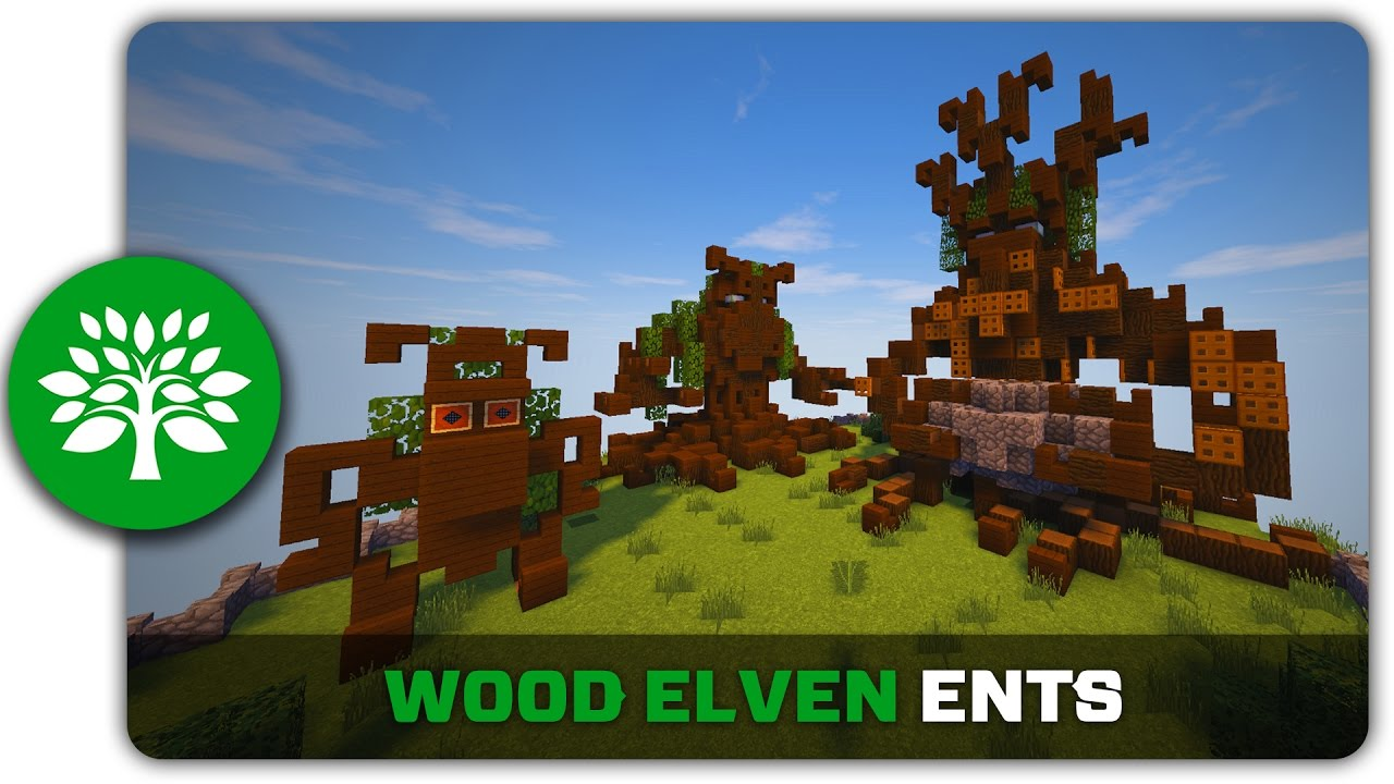 Minecraft Building Tutorial How To Build Wood Elven Ents Youtube