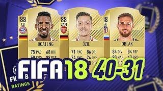 40-31! - fifa 18 ultimate team ratings! #fifa18ratings