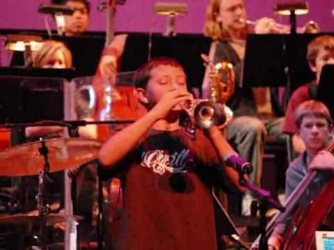 Jason Mandich Douglas rehearses Penny Lane on Piccolo Trumpet - DJ version ending