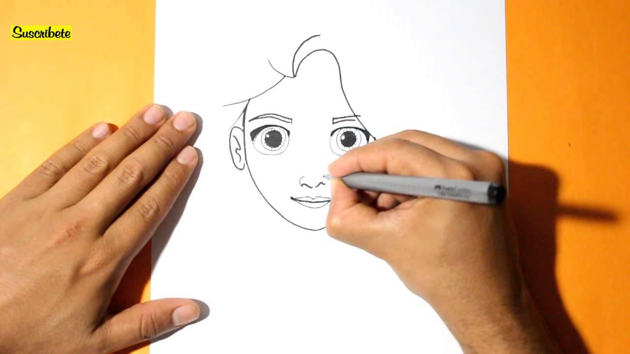 Como dibujar a rapunzel enredados l how to draw rapunzel for Sillas para dibujar facil