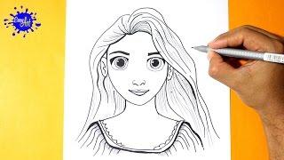 Como Dibujar a Rapunzel - Enredados l How to Draw Rapunzel l Como dibujar una princesa