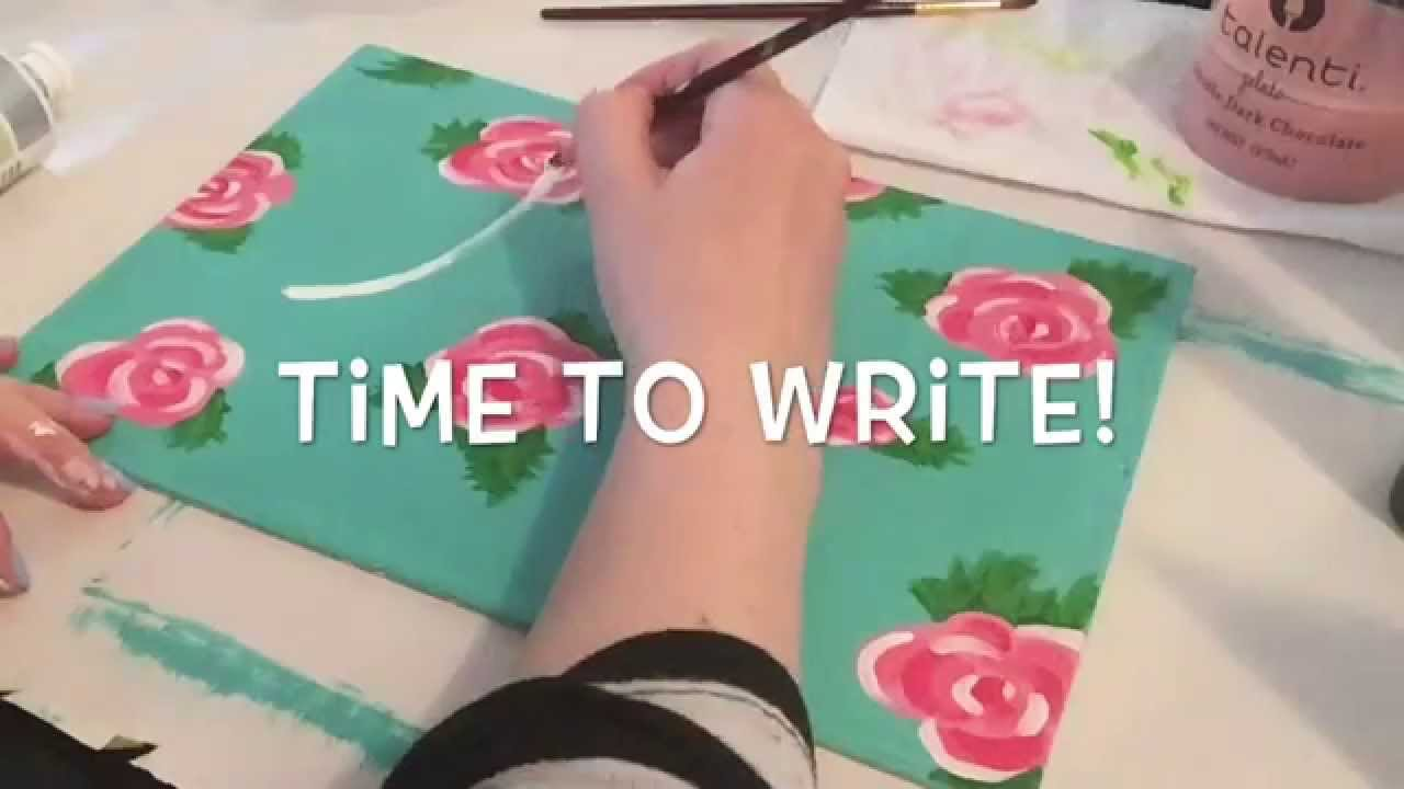 Mothers Day DIY Tumblr Inspired Painting Tutorial - YouTube