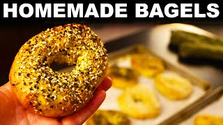 Homemade bagels | boiled New York / Montreal style hybrid