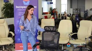 Обзор инновационного эргономичного кресла руководителя Easy Chair Picasso-E в черной сетке