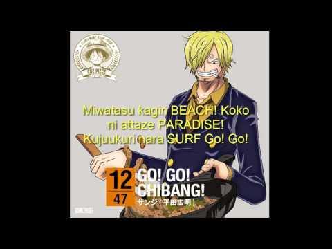 Sanji (Hiroaki Hirata) - GO! GO! CHIBANG! (Lyrics) (Sub. español)