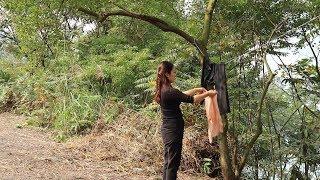 【南方小蓉】漂亮女子隐居深山 用山泉水洗衣 过着日出而作 诗情画意的生活