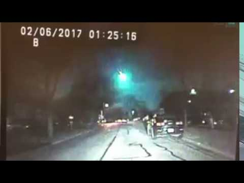 Midwest Meteor Police Dash Cam