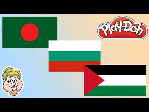 Play-Doh Flags!  Bangladesh, Bulgaria, and Palestine! EWMJ #182