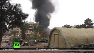 Боевики оппозиции обстреливают Алеппо  погибли двое российских медиков
