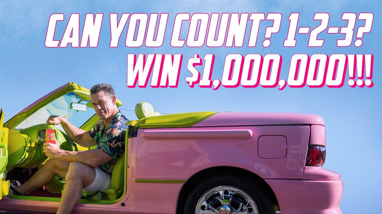 Counting MTN DEW MAJOR MELON™ with John Cena: A ONE MILLION DOLLAR Tutorial