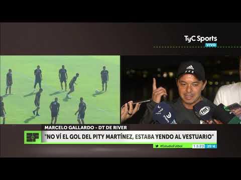 ¡Así vivió Gallardo el gol del Pity Martínez!