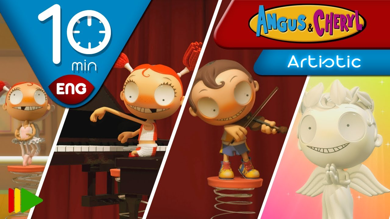 Angus & Cheryl | Artistic Compilation | Full episodes for kids | 10 minutes