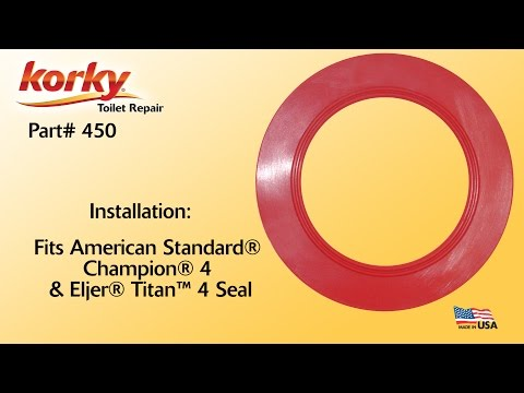 How To Install A Korky 4 Inch Toilet Flush Valve Seal By Korky