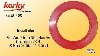 Korky® 4 Inch Toilet Flush Valve Seal Installation by Korky