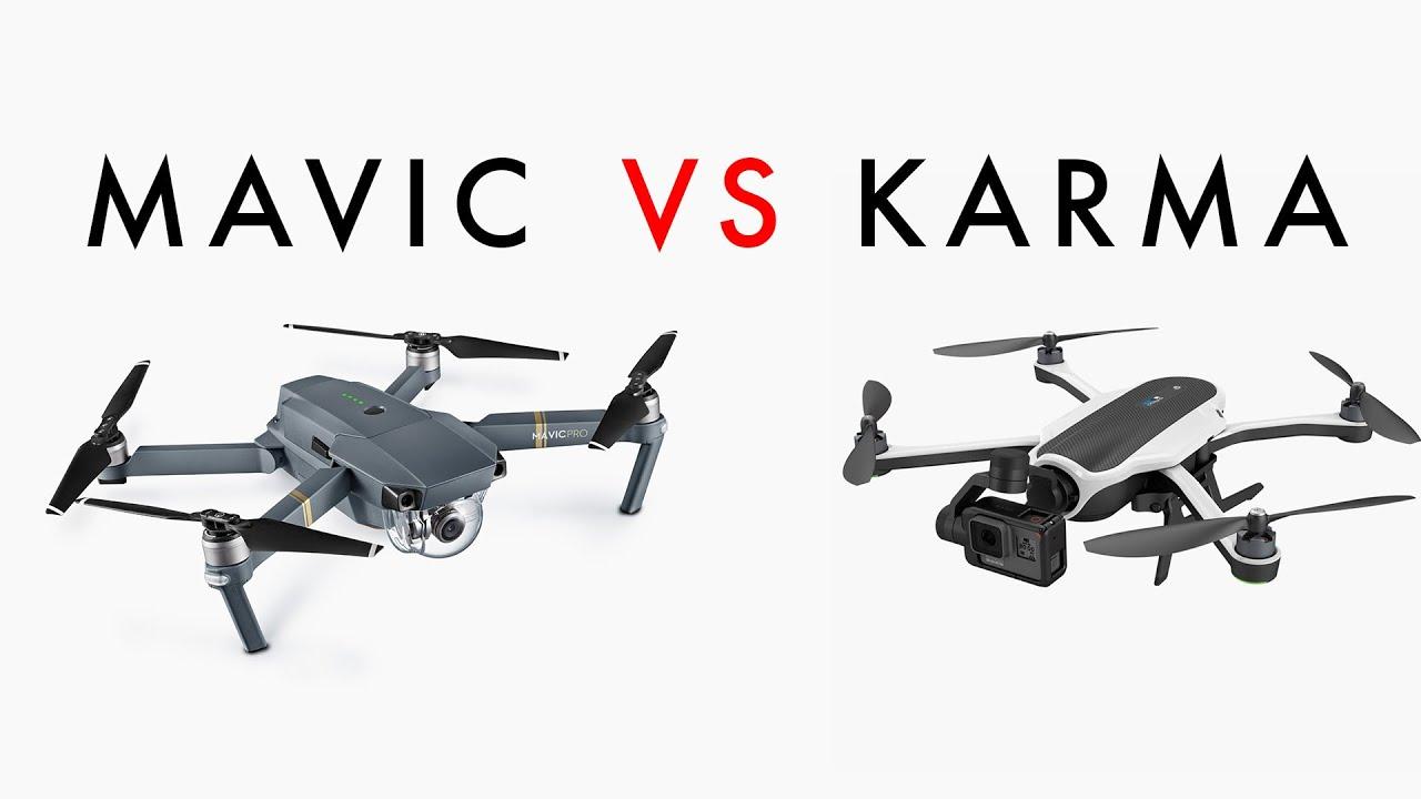 DJI Mavic VS GoPro Karma