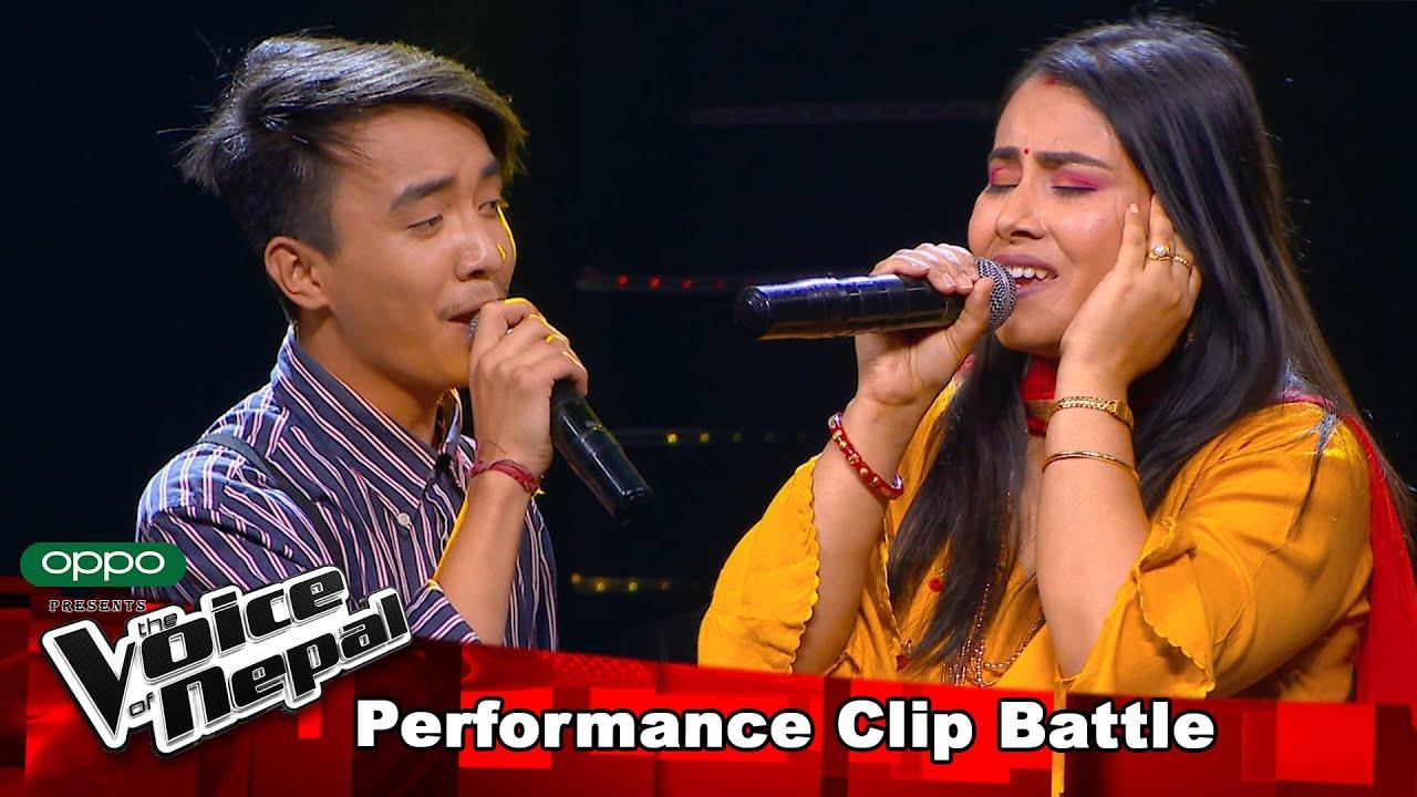 "Download Laboni Vs Aryan ""Namana Laja Yastari"" Battle Round - The Voice of Nepal 2021"