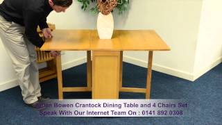 Julian Bowen Crantock Dining Table And 4 Chairs Set