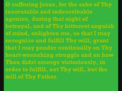 Agony in the Garden Prayer - YouTube