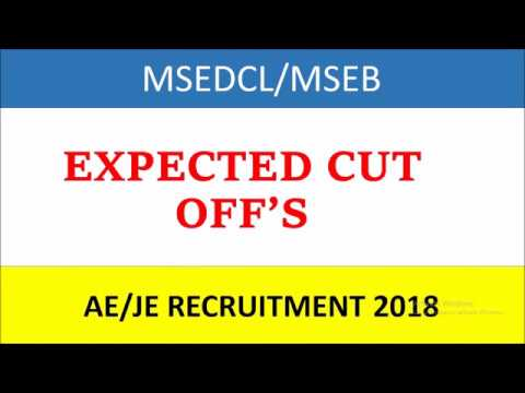 Expected cut off's of MSEDCL/MSEB AE/JE recruitment 2018