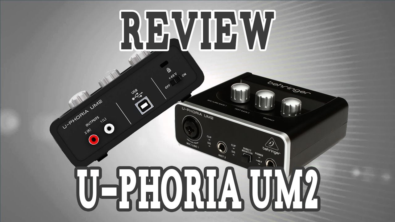 Review Y como conectar interface U-phoria UM2