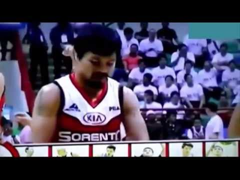 Manny Pacquiao playing Basketball in Philippines