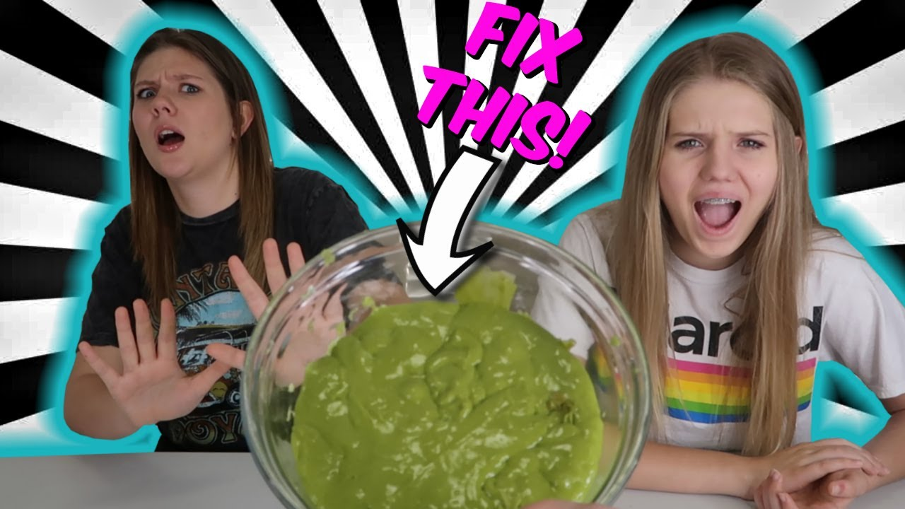 FIX THIS UGLY SLIME with Random Ingredients   Taylor & Vanessa