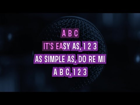 ABC Karaoke Version by The Jackson 5 (Video with Lyrics)