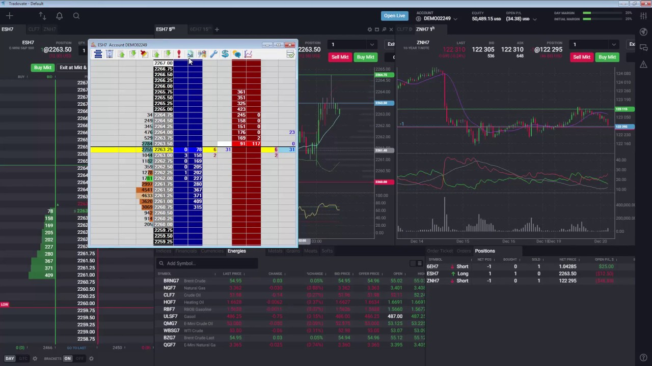 Accessing Jigsaw Trading's Depth & Sales in Tradovate
