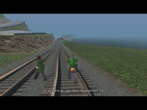 ALL WE HAD TO DO WAS FOLLOW THE DAMN TRAIN CJ!