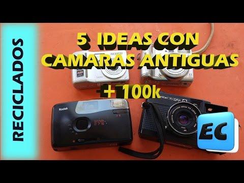 5 Ideas con cámaras de fotos antiguas. RECICLADO + 100.000 Suscriptores