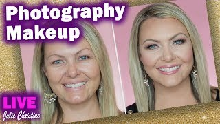 How to do Makeup for Photos and Look Good in Pictures. Full Face Live Tutorial Blue Eyes