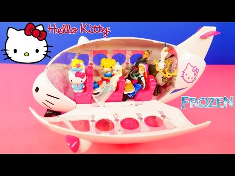 Hello Kitty Airline Toy Air Plane Disney Frozen Elsa Anna Olaf Kristoff Go Flying