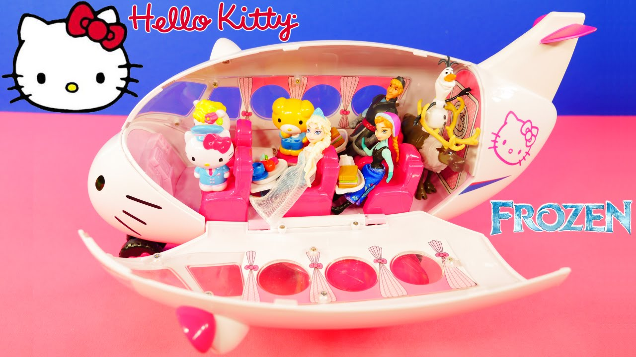784e3e308c Hello Kitty Airline Toy Air Plane with Lots of Friends - YouTube