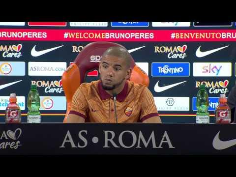 """Conferenza stampa Bruno Peres: """"Basta vedere la Juve vincere degli scudetti, deve essere nostro"""""""