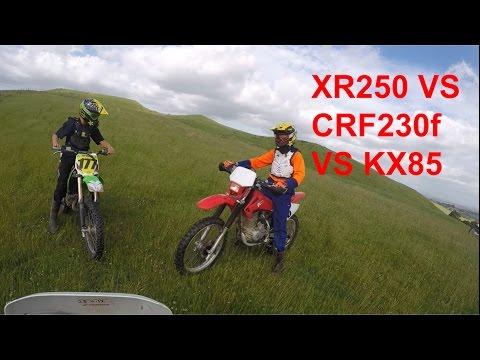 CRF230 VS KX85 VS XR250