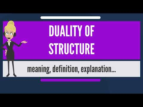 What is DUALITY OF STRUCTURE? What does DUALITY OF STRUCTURE mean? DUALITY OF STRUCTURE meaning