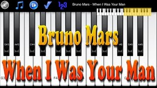 How to Play Piano Melody - Bruno Mars - When I Was Your Man