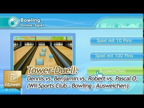 Tower-Duell: Wii Sports Club - Bowling - Ausweichen (Dennis vs. Benjamin vs. Robert vs. Pascal O.)