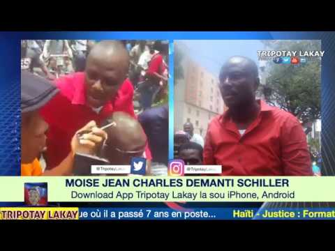 Moise Jean CHarles met nan bòl BOULOS ak Demanti Schiller Louidor ki di li divize manifestation an