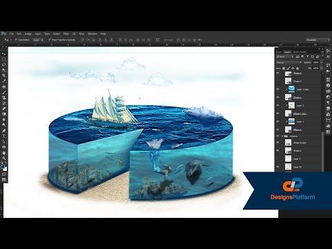 How To Create a Amazing Photo-manipulation ( Creative Piece of Sea )