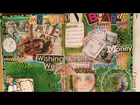 Magazine Art Journal - How to make a Vision Board