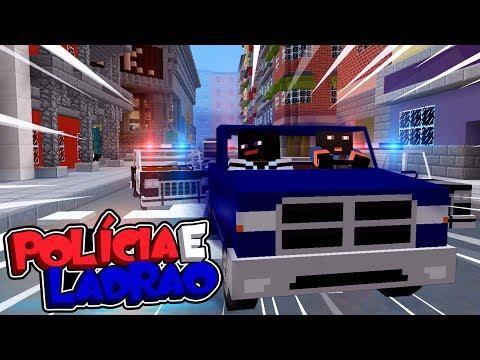 Minecraft: ROUBO AO BANCO CENTRAL !!! - POLÍCIA E LADRÃO ‹ C4IPIRAS ›